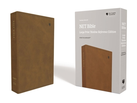 Net Bible, Thinline Reference, Large Print, Leathersoft, Brown, Comfort Print: Holy Bible Cover Image