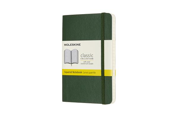 Moleskine Notebook, Pocket, Squared, Myrtle Green, Soft Cover (3.5 x 5.5) Cover Image