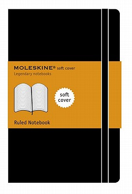 Moleskine Classic Notebook, Large, Ruled, Black, Soft Cover (5 x 8.25) (Classic Notebooks) Cover Image