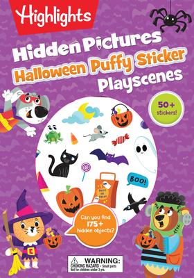 Halloween Hidden Pictures Puffy Sticker Playscenes (Highlights Puffy Sticker Playscenes) Cover Image