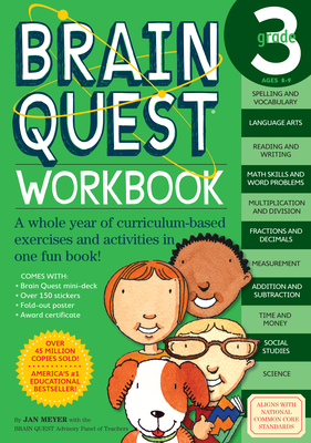 Brain Quest Workbook: 3rd Grade (Brain Quest Workbooks) Cover Image