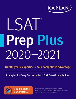 LSAT Prep Plus  2020-2021: Strategies for Every Section + Real LSAT Questions + Online (Kaplan Test Prep) Cover Image