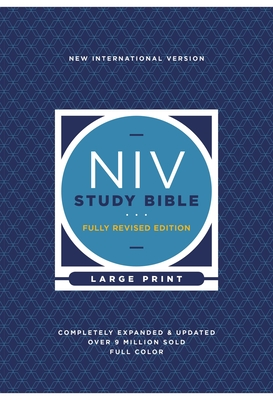 NIV Study Bible, Fully Revised Edition, Large Print, Hardcover, Red Letter, Comfort Print Cover Image