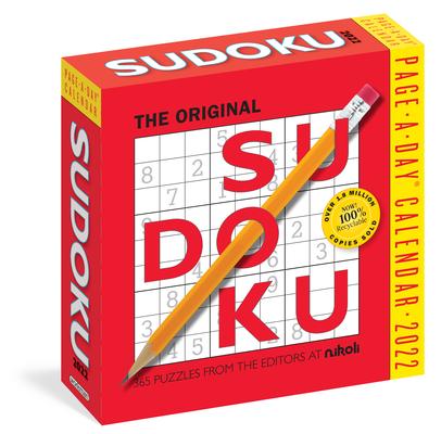 Cover for Original Sudoku Page-A-Day Calendar 2022