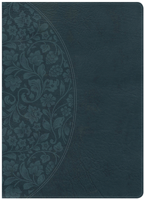 Holman Study Bible: NKJV Large Print Edition Dark Teal LeatherTouch, Indexed Cover Image