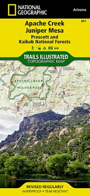 Apache Creek, Juniper Mesa [prescott and Kaibab National Forests] (National Geographic Maps: Trails Illustrated #857) Cover Image