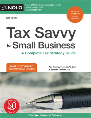 Tax Savvy for Small Business: A Complete Tax Strategy Guide Cover Image