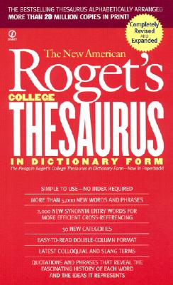 New American Roget's College Thesaurus in Dictionary Form (Revised & Updated) Cover Image