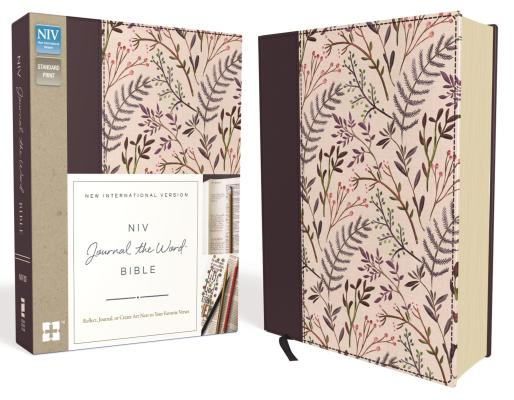 NIV, Journal the Word Bible, Hardcover, Pink Floral Cloth: Reflect, Journal, or Create Art Next to Your Favorite Verses Cover Image
