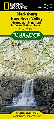 Blacksburg, New River Valley [george Washington and Jefferson National Forests] (National Geographic: Trails Illustrated Maps #787) Cover Image