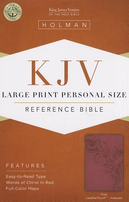Cover for KJV Large Print Personal Size Reference Bible, Pink LeatherTouch Indexed