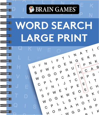 Brain Games - Word Search Large Print (Blue) Cover Image