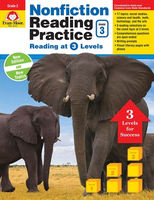 Nonfiction Reading Practice, Grade 3 Cover Image