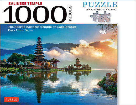 Balinese Temple Jigsaw Puzzle - 1,000 Pieces: The Sacred Balinese Temple on Lake Bratan, Pura Ulun Danu (Finished Size 29 In. X 20 In.) Cover Image