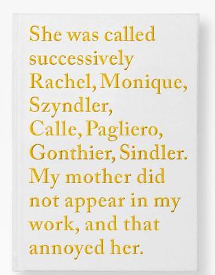 Sophie Calle: Rachel Monique Cover Image