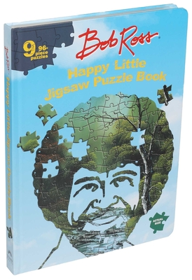 Bob Ross Happy Little Jigsaw Puzzle Book Cover Image