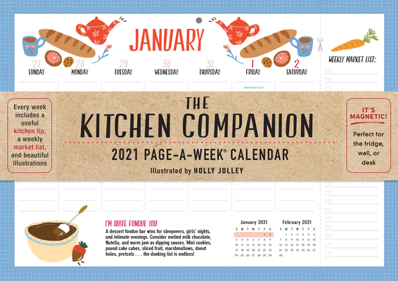 The Kitchen Companion Page-A-Week Calendar 2021 Cover Image