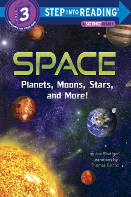 Space: Planets, Moons, Stars, and More! (Step into Reading) Cover Image