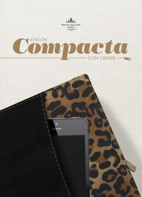Cover for RVR 1960 Biblia, Edición Compacta con cierre, negro/leopardo símil piel