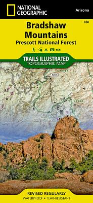 Bradshaw Mountains [Prescott National Forest] (National Geographic Trails Illustrated Map #858) Cover Image