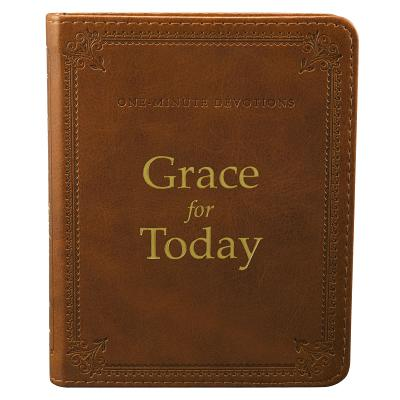 One Minute Devotions Grace for Today LuxLeather Cover Image