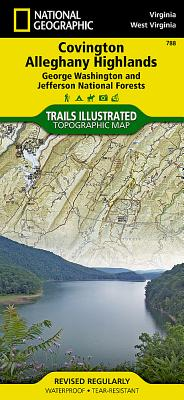 Covington, Alleghany Highlands [george Washington and Jefferson National Forests] (National Geographic: Trails Illustrated Maps #788) Cover Image