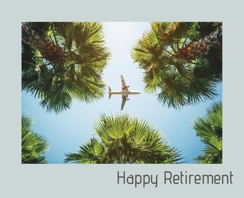 Happy Retirement Guest Book ( Landscape Hardcover ): Guest book for retirement, message book, memory book, keepsake, landscape, retirement book to sig Cover Image