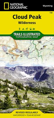 Cloud Peak Wilderness (National Geographic Trails Illustrated Map #720) Cover Image