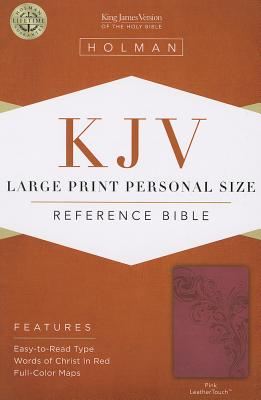Cover for KJV Large Print Personal Size Reference Bible, Pink LeatherTouch