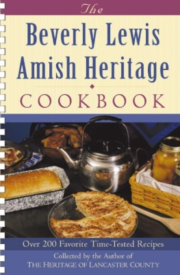 The Beverly Lewis Amish Heritage Cookbook Cover Image