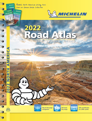 Michelin North America Road Atlas 2022 USA - Canada - Mexico Cover Image