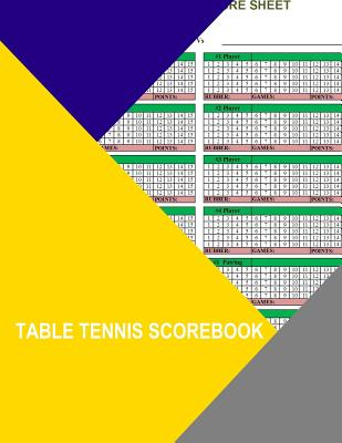 table tennis scorebook Cover Image