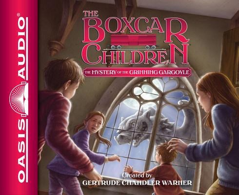 Cover for The Mystery of the Grinning Gargoyle (Library Edition) (The Boxcar Children Mysteries #137)