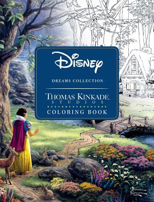 Disney Dreams Collection Thomas Kinkade Studios Coloring Book Cover Image