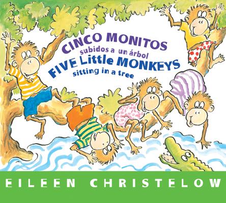 Cover for Cinco monitos subidos a un árbol / Five Little Monkeys Sitting in a Tree