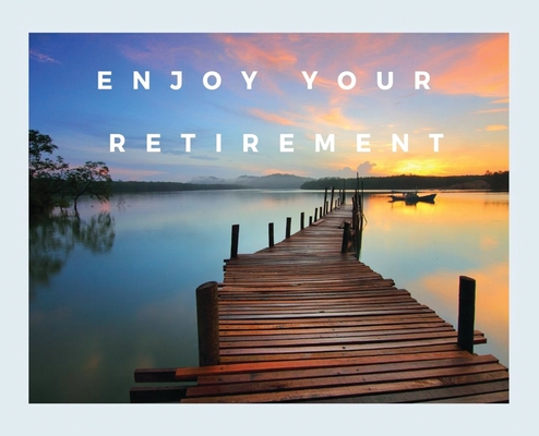 Happy Retirement Guest Book (Hardcover): Guestbook for retirement, message book, memory book, keepsake, landscape, retirement book to sign, lined page Cover Image