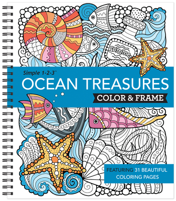 Color & Frame - Ocean Treasures (Adult Coloring Book) Cover Image