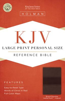 Cover for KJV Large Print Personal Size Reference Bible, Brown/Chocolate LeatherTouch Indexed