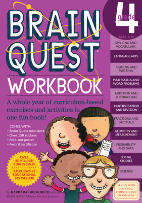 Brain Quest Workbook: Grade 4 (Brain Quest Workbooks) Cover Image
