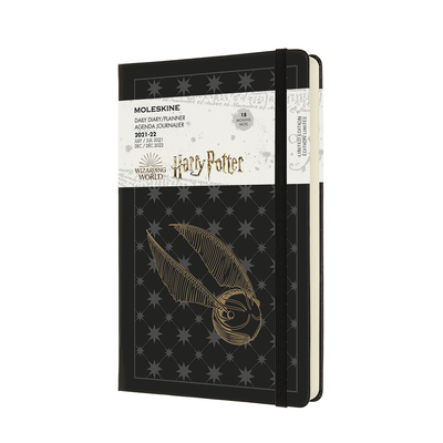 Moleskine 2021-2022 Harry Potter Daily Planner, 18M, Large, Black, Hard Cover (5 x 8.25) Cover Image