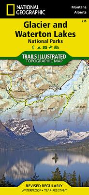 Glacier and Waterton Lakes National Parks (National Geographic Maps: Trails Illustrated #215) Cover Image