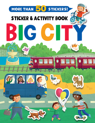 Big City Stickers and Activity Book (Clever Sticker & Activity) Cover Image