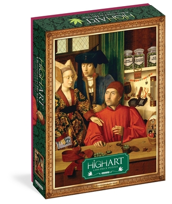 """High Art: A Budtender in His Shop 1,000-Piece Puzzle: for Adults Marijuana Humor Painting Parody Gift Jigsaw 26 3/8"""" x 18 7/8"""" Cover Image"""