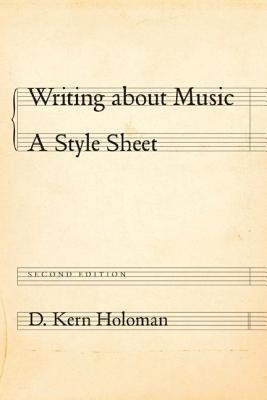 Writing about Music: A Style Sheet Cover Image