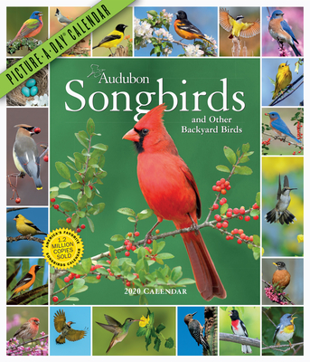 Audubon Songbirds and Other Backyard Birds Picture-A-Day Wall Calendar 2020 Cover Image