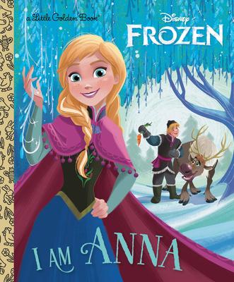 I Am Anna (Disney Frozen) (Little Golden Book) Cover Image