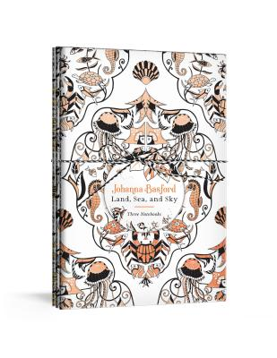 Johanna Basford Land, Sea, and Sky: Three Colorable Notebooks Cover Image