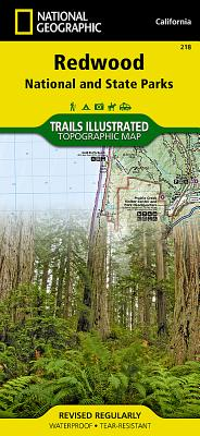 Redwood National and State Parks (National Geographic Trails Illustrated Map #218) Cover Image