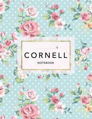 Cornell Notebook: Floral Print - 120 White Pages 8.5x11