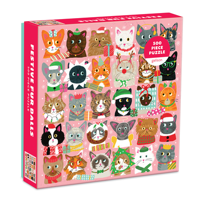 Festive Furballs 500 Pc Puzzle Cover Image